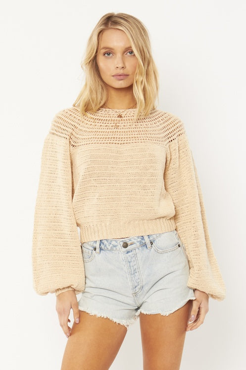Amuse Stevie L/S Knit Sweater-Off White