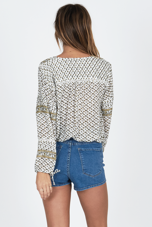 Amuse Lakefront Woven Top - Casablanca - Ella J Boutique