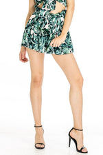 Olivaceous Palm Skort - Ella J Boutique