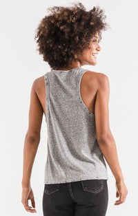 Z Supply The Triblend Racer Tank - Heather Grey