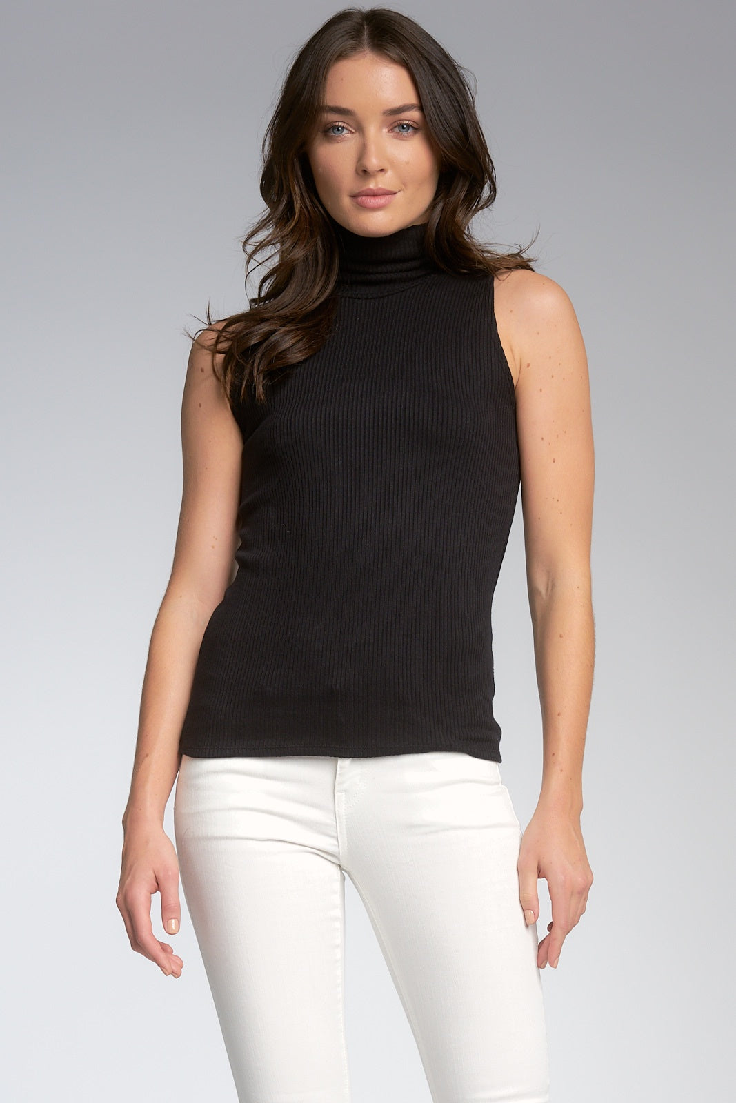 Elan Black Turtleneck Top