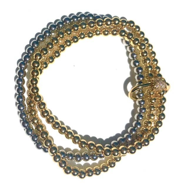 Nikki Smith Chain Link Beaded Stack