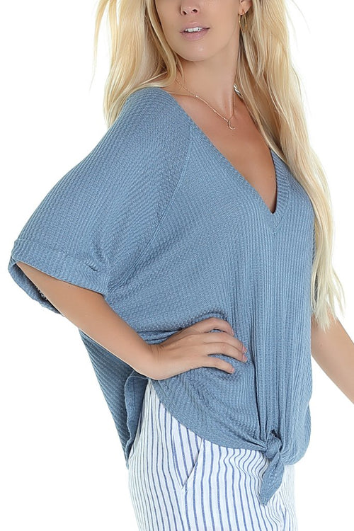 Lucy Love Bailey Top - Blue Dust