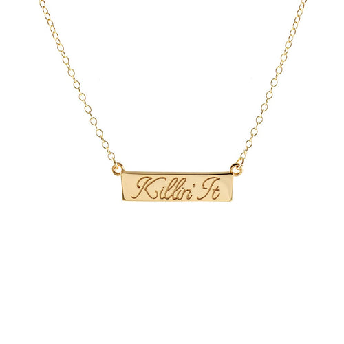Kris Nations Killin' It Charm Necklace, 18K Gold Vermeil