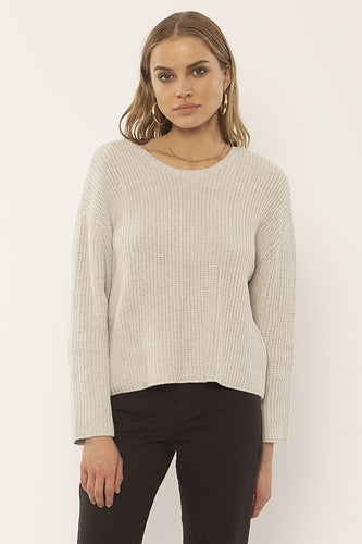 Amuse Sunset Road L/S Knit Sweater - Oatmeal