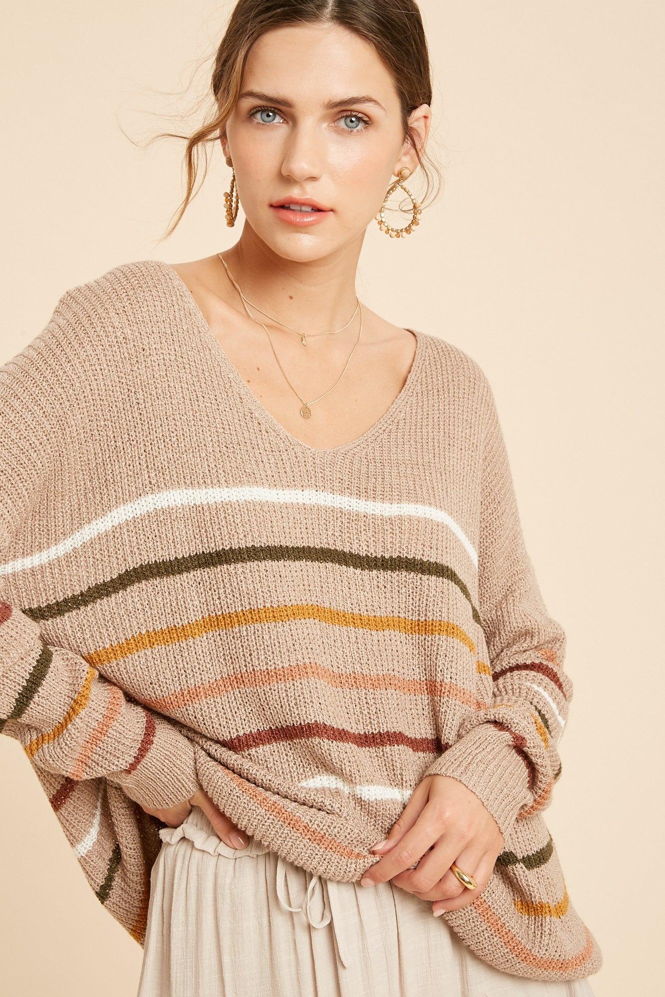 Stripe Light Weight Sweater