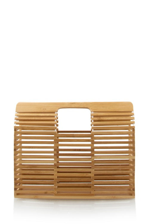 Rectangle Wooden Clutch