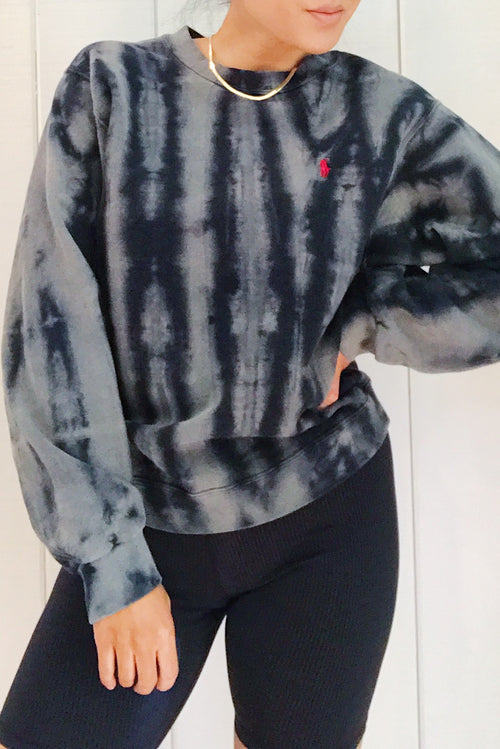 Unisex Upcycled One Of Kind Tie Dye Sweatshirt #7