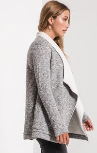 Z Supply The Sherpa Sweater Cardigan-Black