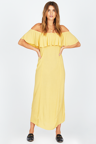 Amuse Vista Del Valle Dress-Yellow - Ella J Boutique