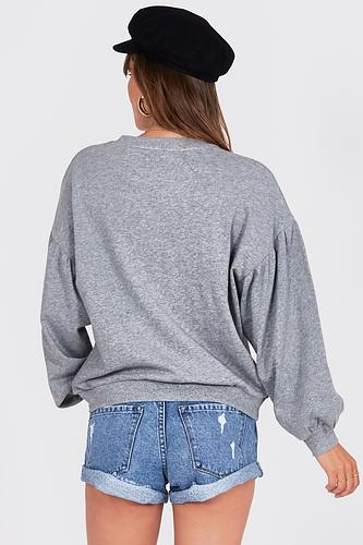 Amuse Bayamo Fleece Pullover - Dark Heather Grey - Ella J Boutique