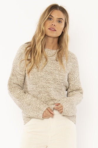 Amuse Amalia L/S Knit Sweater - Oatmeal