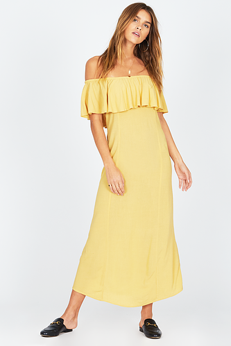 Amuse Vista Del Valle Dress-Yellow