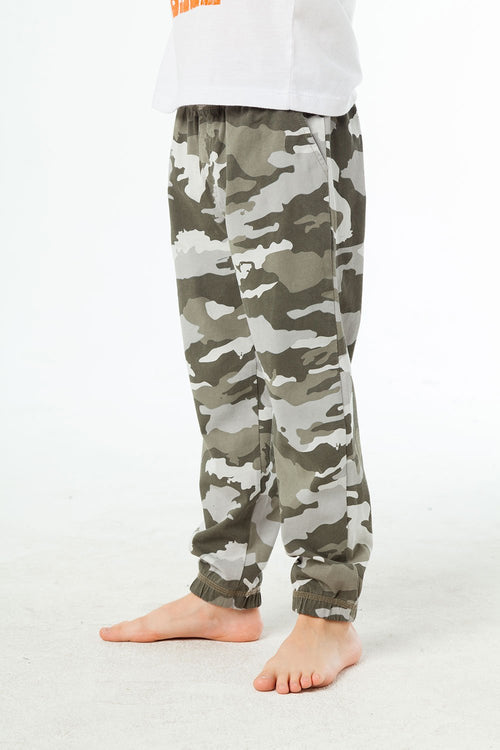 Chaser Camo Boys Lounge Pant w/ Pockets, Misty