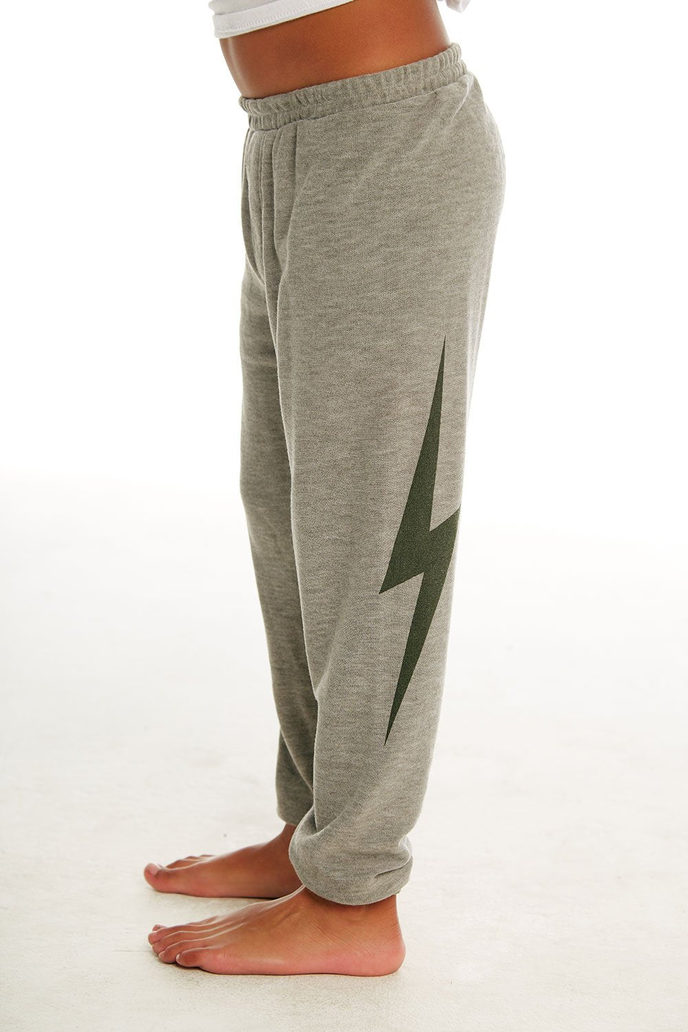 Chaser Kids Chill Boys Cozy Knit Jogger No Side Seam - Heather Grey - Ella J Boutique
