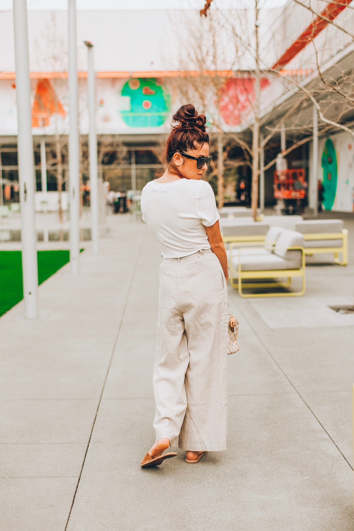 Lost+Wander Wrigley's Wide Pants - Grey/White