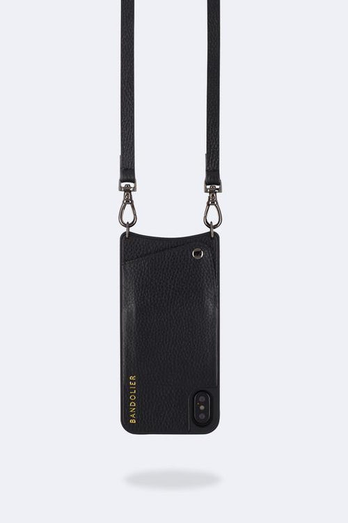 Bandolier Emma Pewter X - Black/Pewter, iPhone X