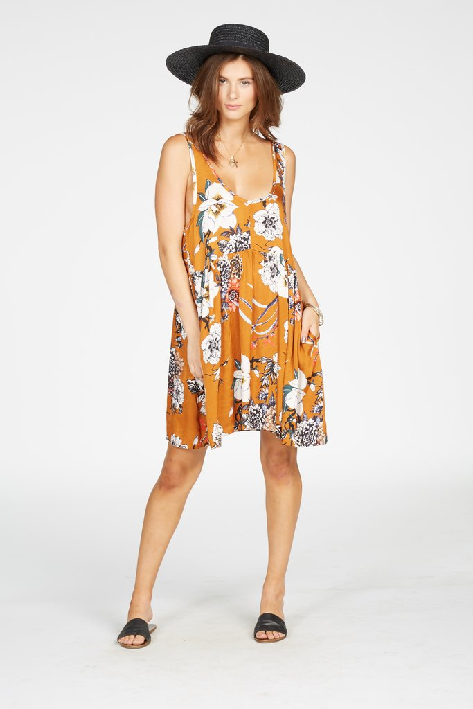 Knot Sisters Java Dress-Miss Saigon Print - Ella J Boutique