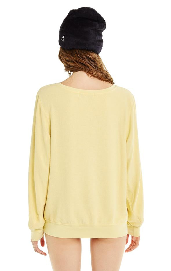 Wildfox Marathon Napper Baggy Beach Jumper - Mellow