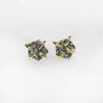 JaxKelly Silver Druzy Prong Earrings (sterling silver 18k gold plated prong)