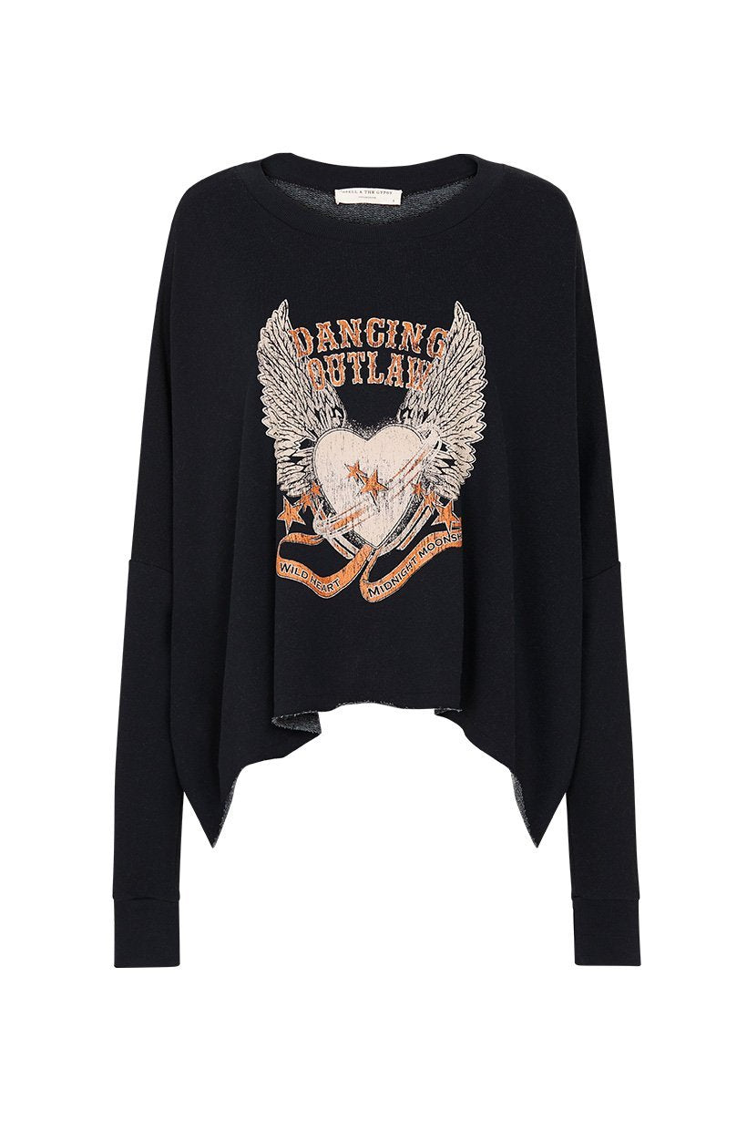 Spell Designs Dancing Outlaw Organic Sweater - Charcoal