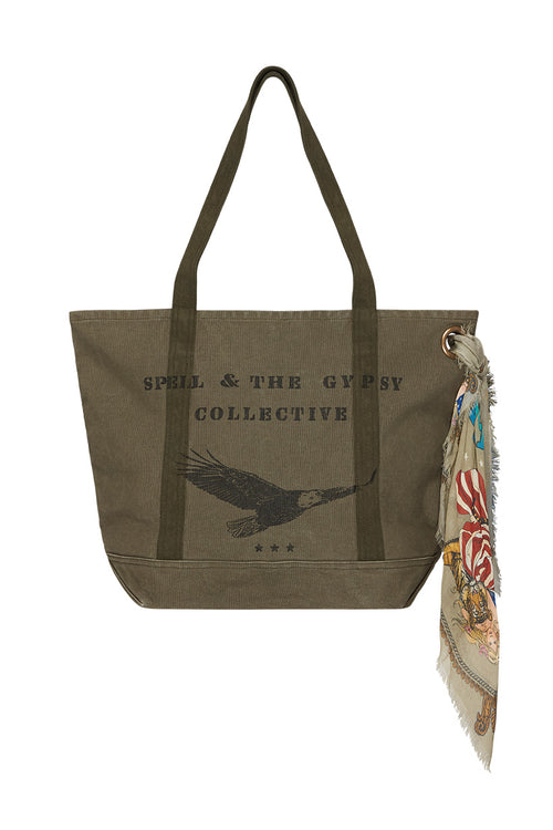 Spell Designs Gypsy Traveller Tote Bag - Khaki