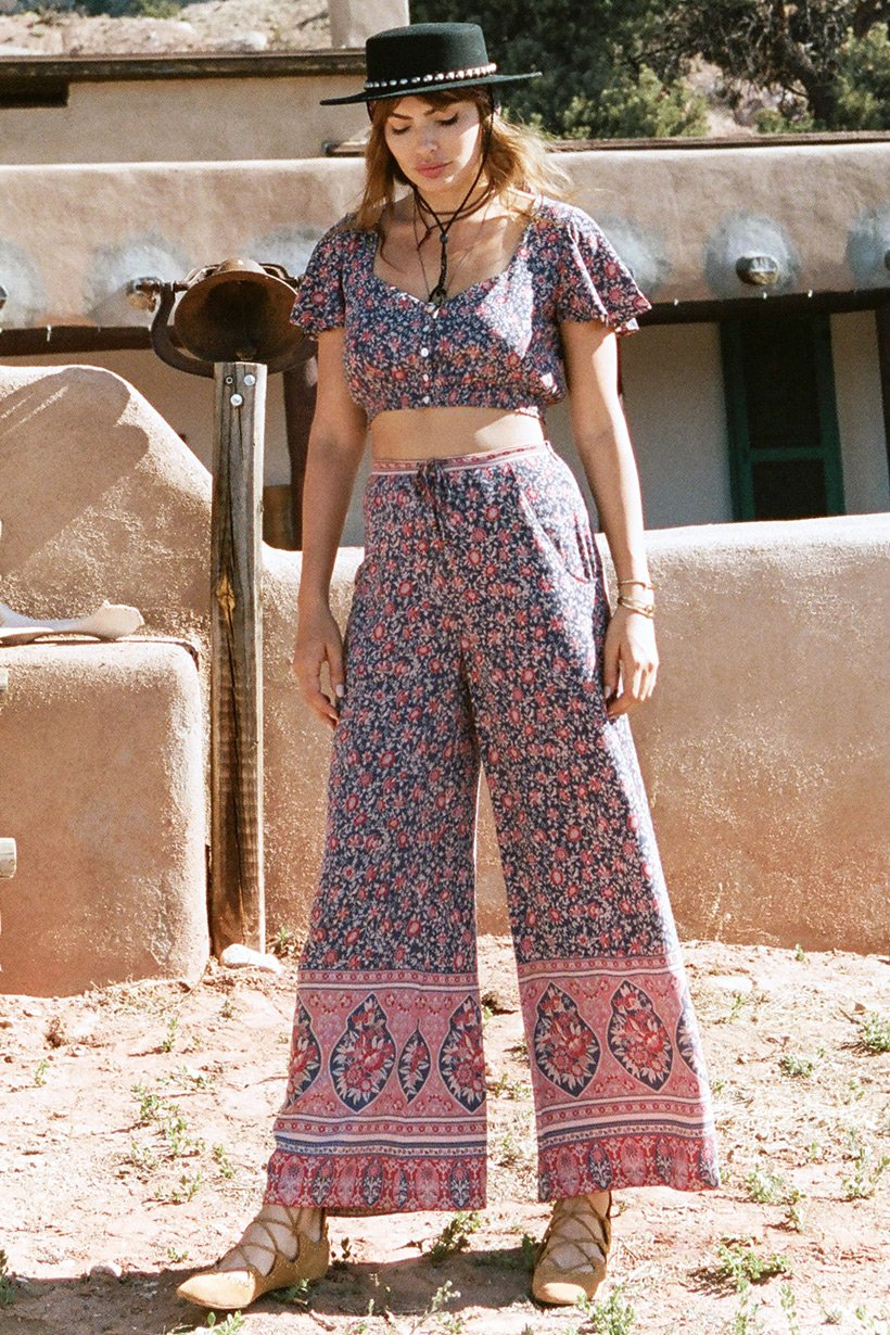 Spell Designs Jasmine Palazzo Pants - Navy - Ella J Boutique