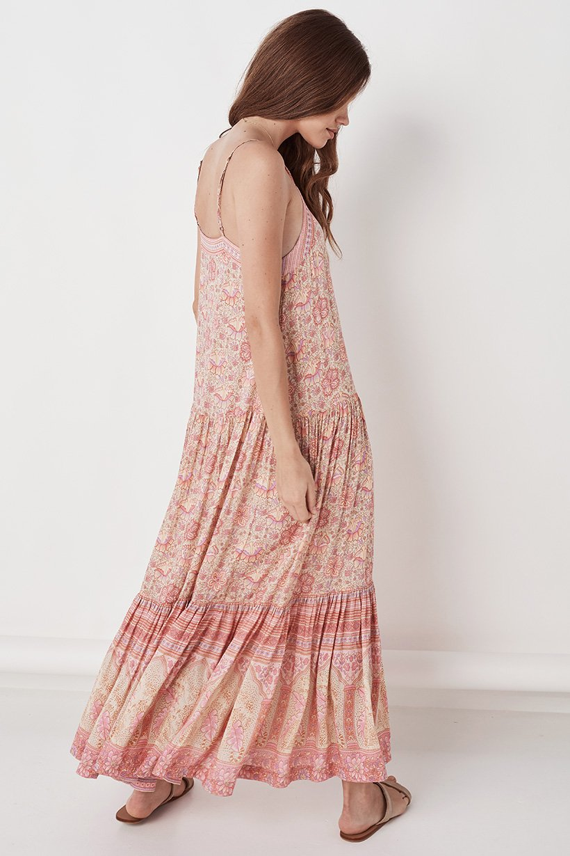 Spell POINCIANA STRAPPY MAXI DRESS Cotton Candy