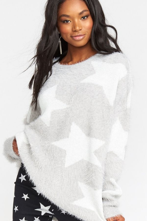 Z Show Me Your Mumu Leighanne Sweater - Fuzzy Star Knit