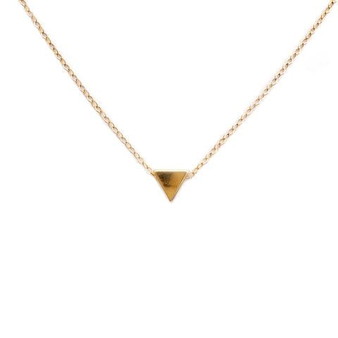 Erin Fader Tiny Triangle Necklace - RG