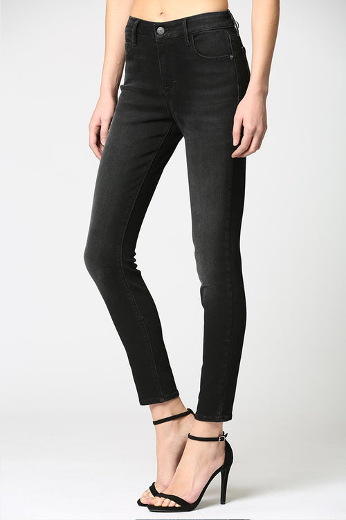Hidden Jeans Dark Black Mid Rise Stretch Skinny