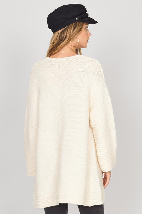 Amuse Let's Chill Sweater, Oatmeal - Ella J Boutique