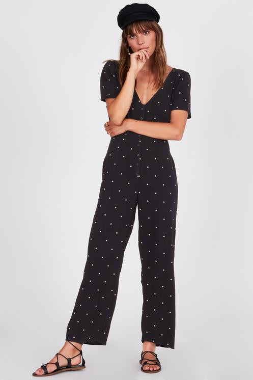Amuse On the Bright Side Jumper (Jumpsuit) - Black - Ella J Boutique