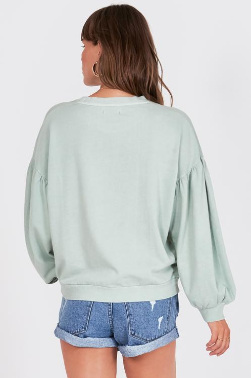 Amuse Bayamo Fleece Pullover - Palm Green - Ella J Boutique