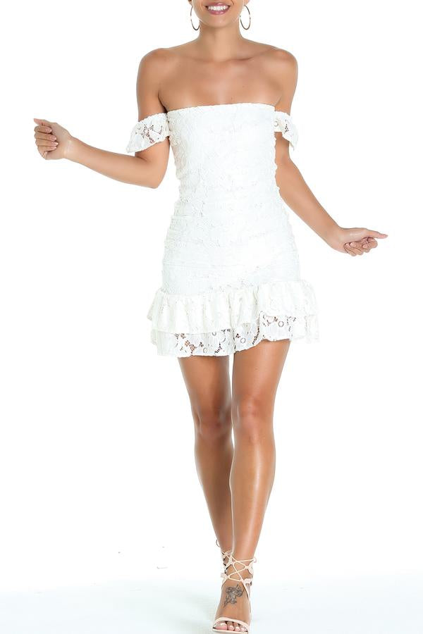 Lucy Love Main Attraction Dress - Ivory