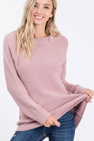 Z Mauve Soft  L/S Tunic Sweater Top