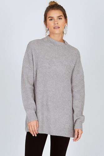 Amuse Lets Snuggle Sweater - Snow Heather Grey