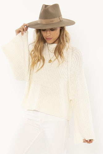 Amuse Lucca L/S Knit Sweater - Casablanca