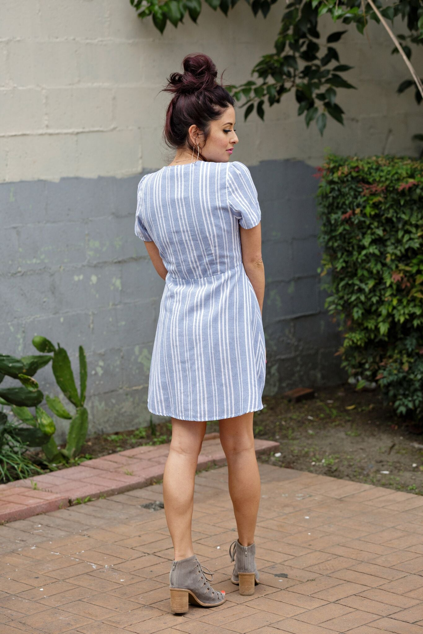 Chambray Sweetie Pie Dress - Ella J Boutique