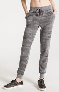 Z Supply The Loft Camo Jogger-Camo Dark Grey