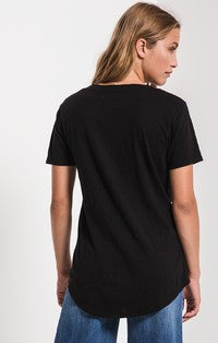 Z Supply The Cotton Slub Pocket Tee - Black