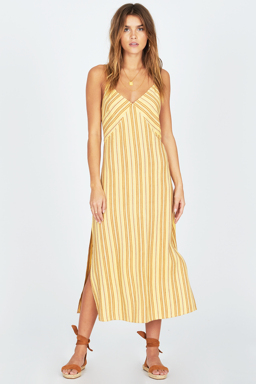Amuse White Sands Dress-Yellow