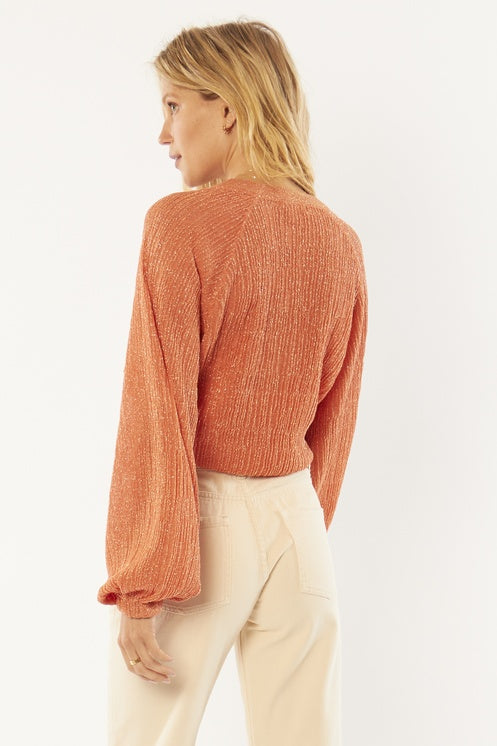 Amuse Sparks Fly L/S Knit Top -