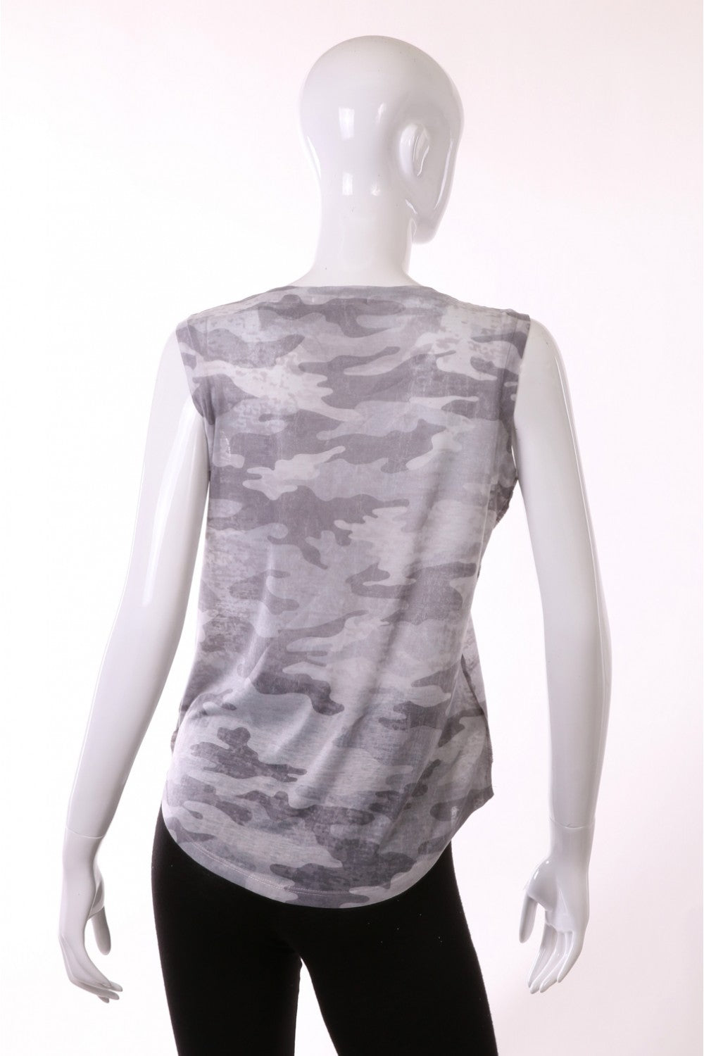 Grey Sublimated Muscle Tank - Ella J Boutique