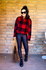 Black High Waist Foil Leggings