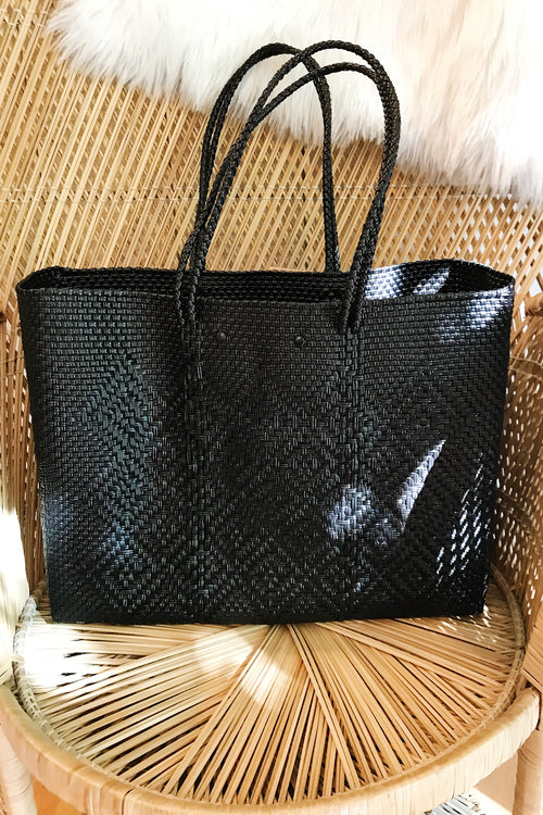 Wahako Large Tote- Black #12