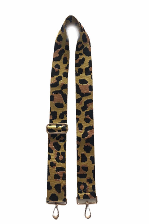 Ahdorned Yellow/Green Ground Leopard Strap