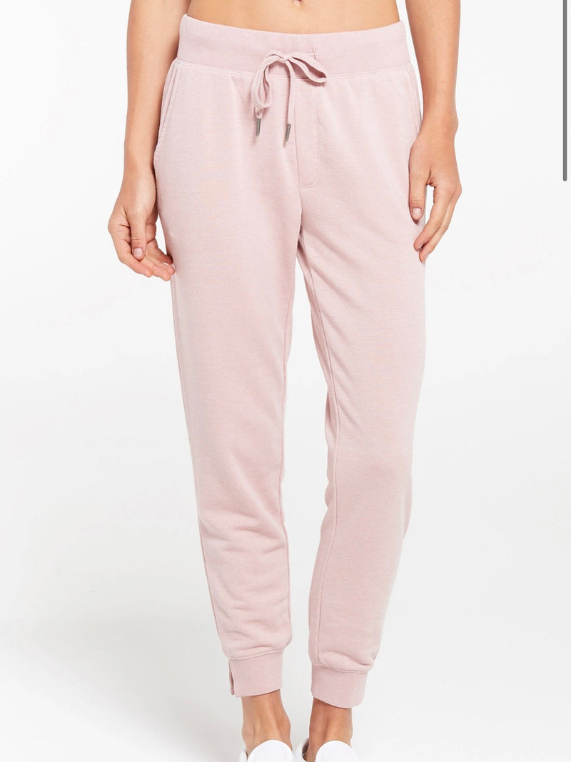 Z Supply Loop Terry Jogger-Pink Blossom