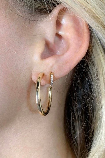Nikki Smith Tessa Tube Earrings-Medium