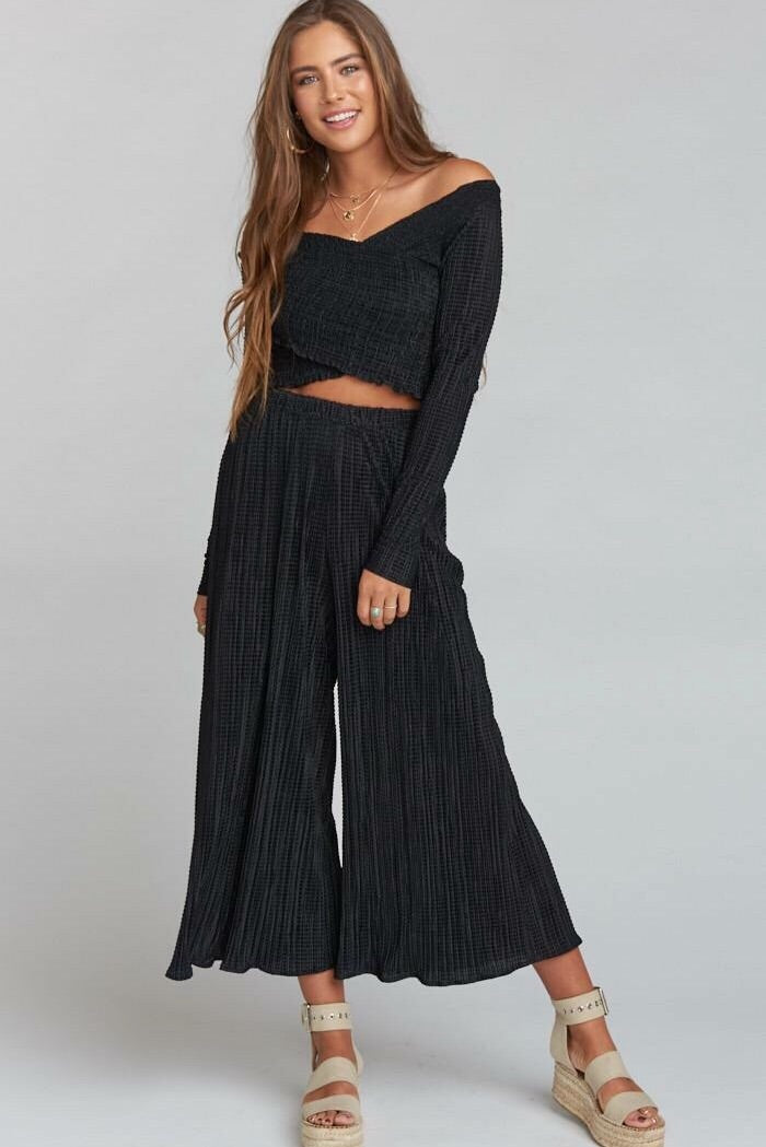 Show Me Your Mumu Pioneer Pants-Silky Scrunch Black